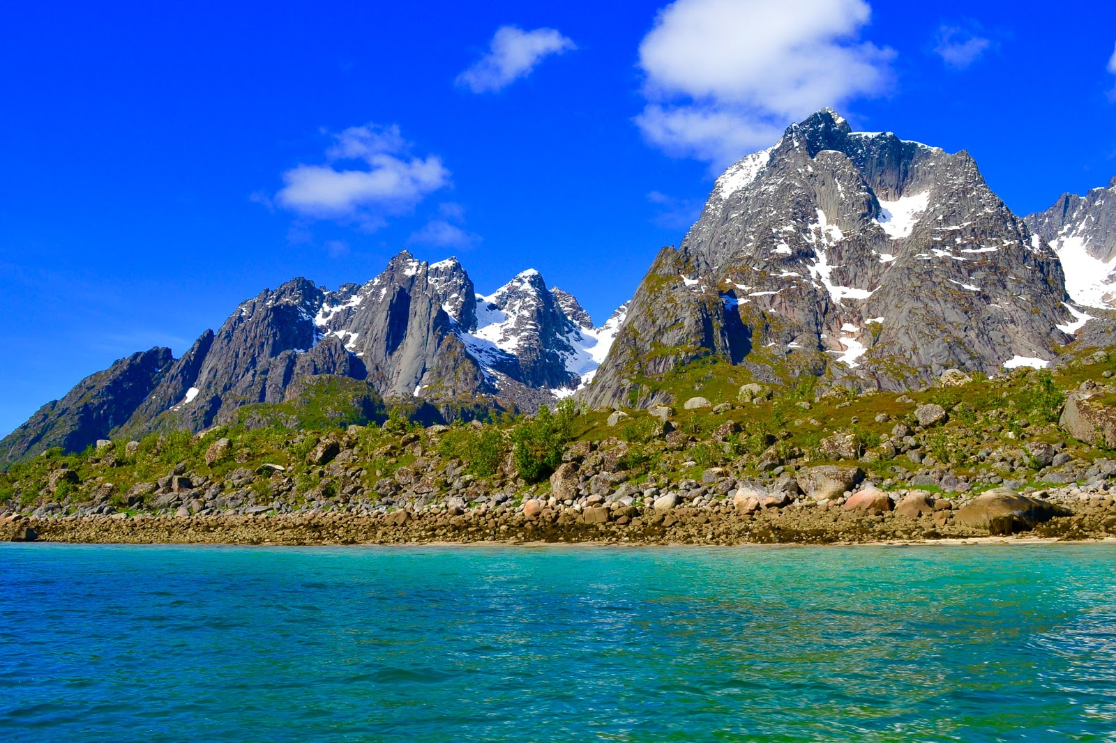 Beautiful Norway as seen aboard the ferry from Gryllefjord to Andenes.