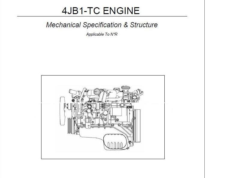 Technology News Otohui: ISUZU TRUCK 4JB1-TC ENGINE MECHANICAL