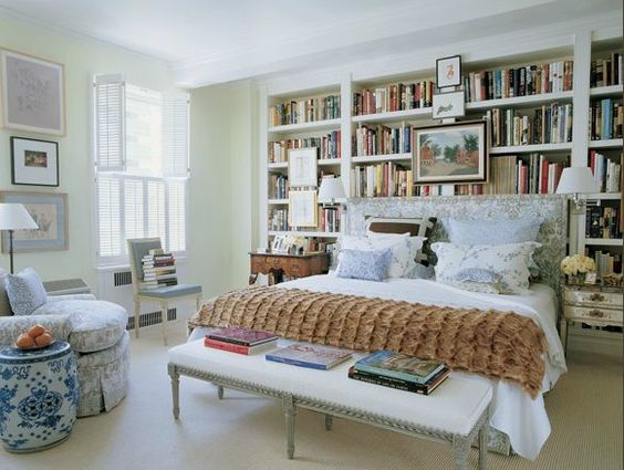 Eye For Design Bedroom Libraries For Book Lovers