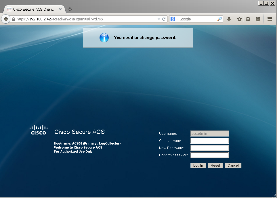 Cisco ACS Lab1: Installing and Configuring ACS 5 6 in ESXi