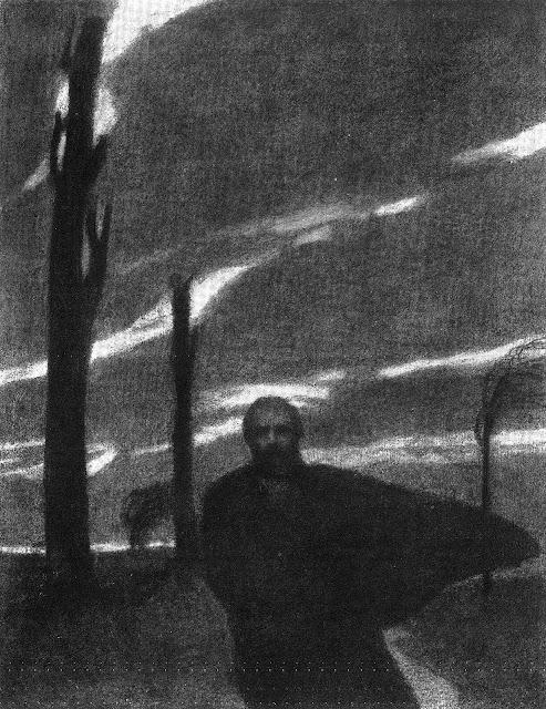JV Cissarz, dark moody art