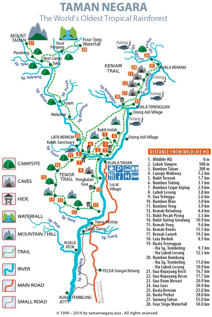 Peta Kawasan Taman Negara Pahang