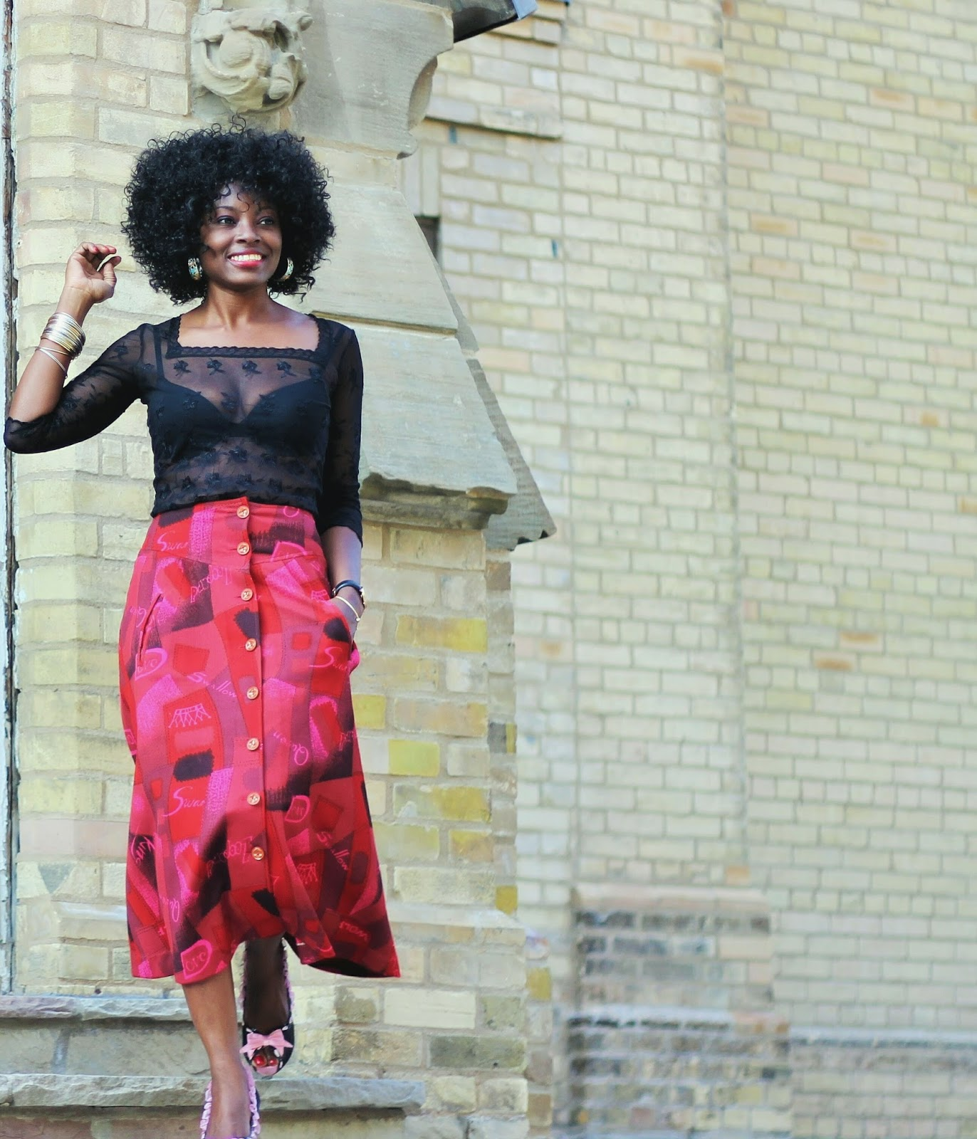 Quirky Chic | Vintage Skirt Midi Skirt