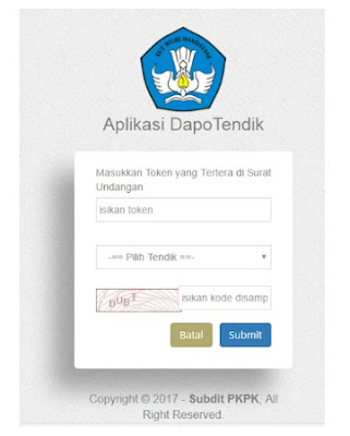 Dapo Tendik 2018 (Cara Login Dan Input Data Aplikasi Dapotendik 2018)