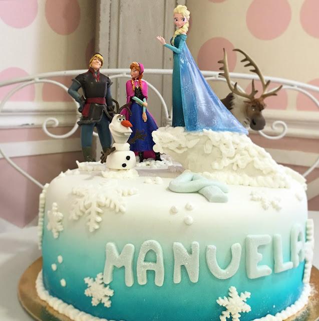 Tarta de Frozen con figuras Disney