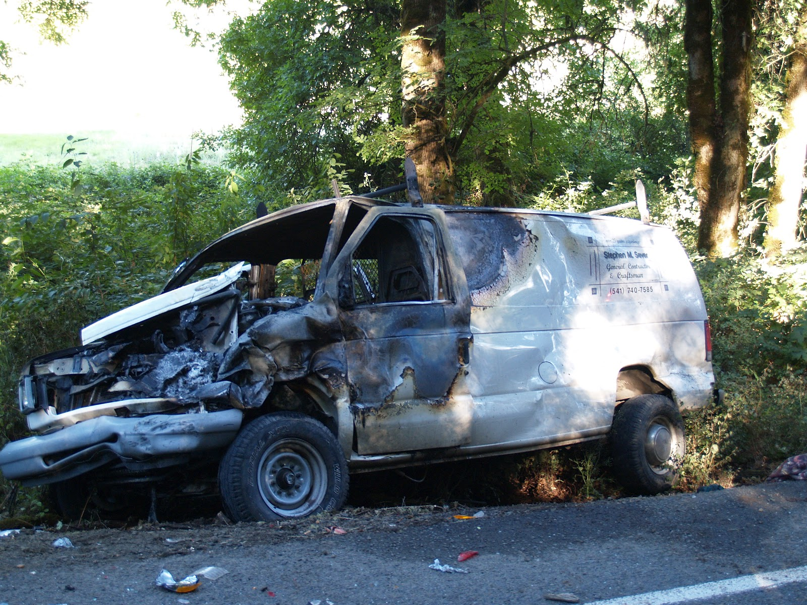 Vehicle Accident News Stories & Articles: Fiery crash near Philomath