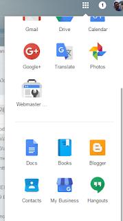 Google menu for Blogger