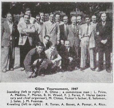 Torneo Internacional de Gijón 1947, jugadores participantes