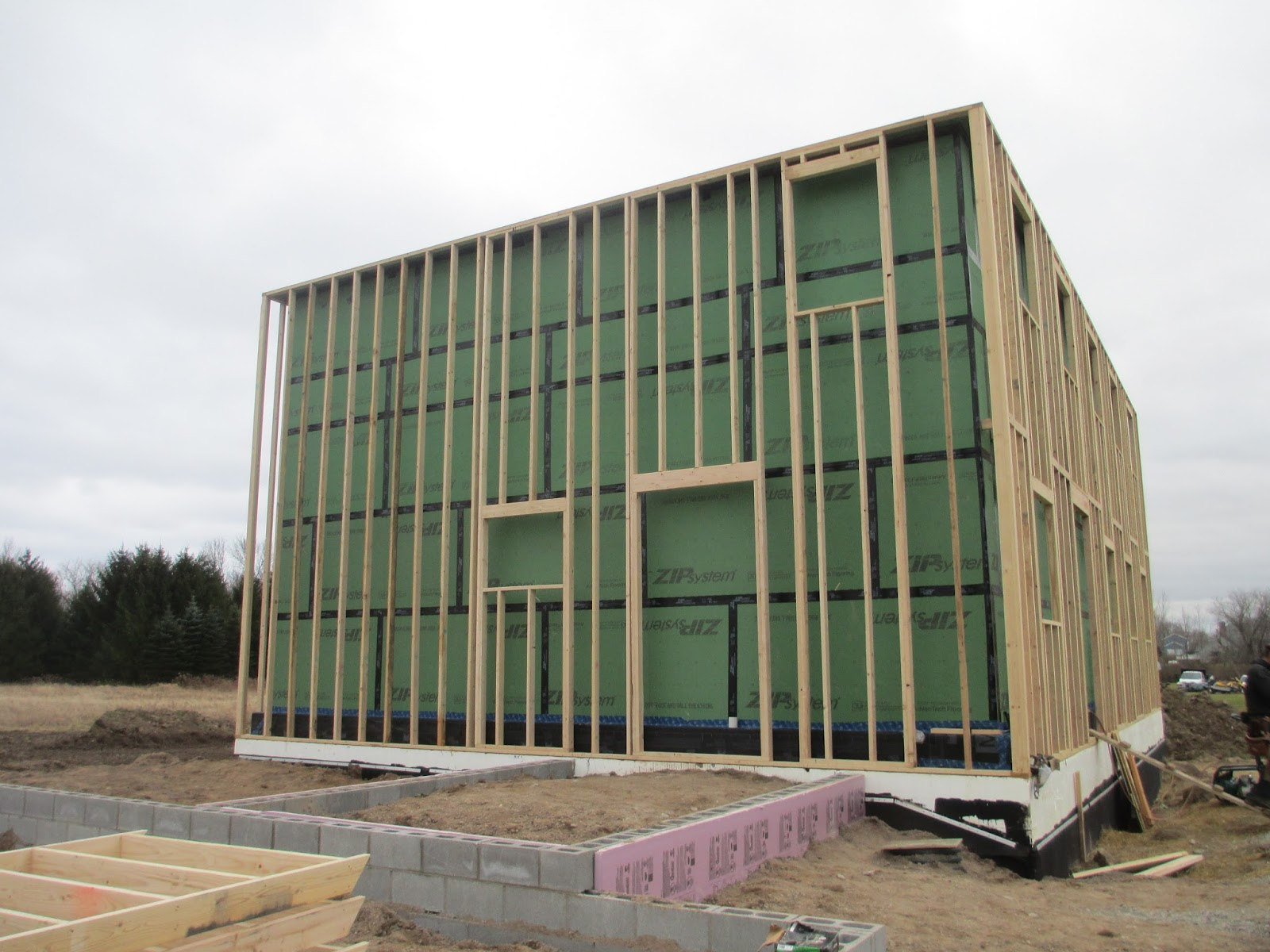 rochester passive house  wall assembly 2
