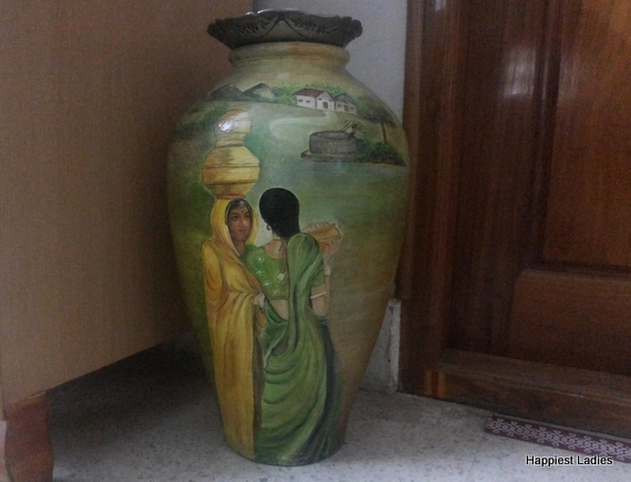 hand painted vase  painting design