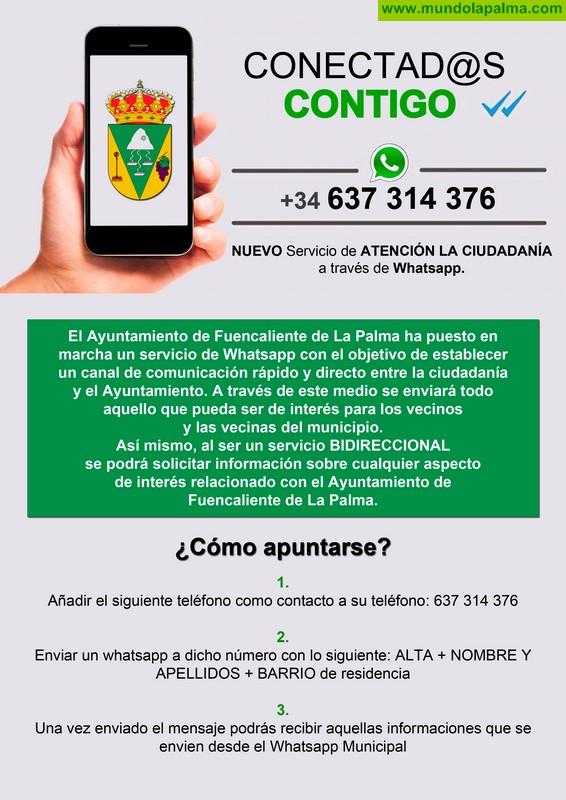 Fuencaliente pone en marcha el servicio de información municipal por Whatsapp