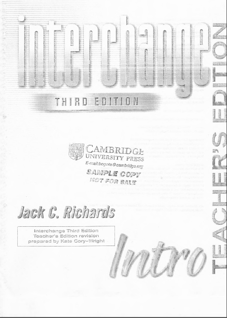 Cambridge Interchange Third Edition Intro Student's Book