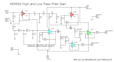 NE5532 Low Pass and High Pass Filter\