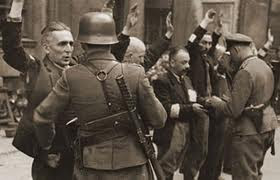 JEWISH FIGHTERS CAPTURED BY THE NAZIS - WARSAW GHETTO UPRISING