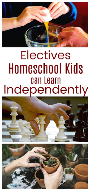 How to Let Homeschool Kids Learn Electives Independently