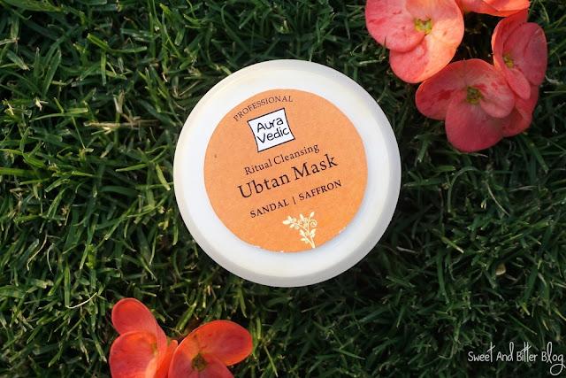 Auravedic Ritual Cleansing Ubtan Dry Mask Sandal Saffron Turmeric Review India