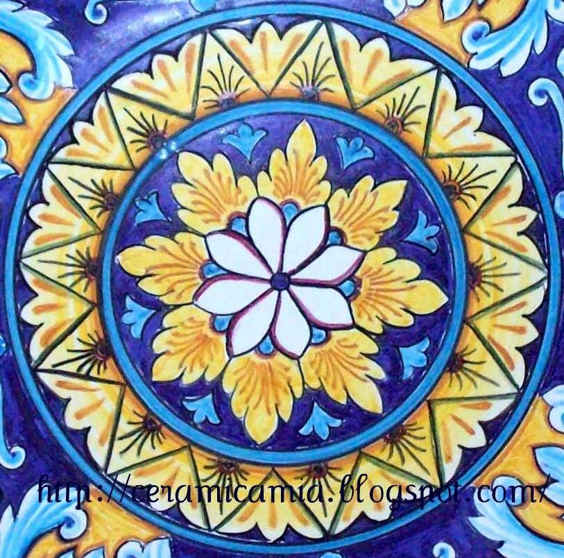 Ceramica che passione Decorazione di un piatto in ceramica