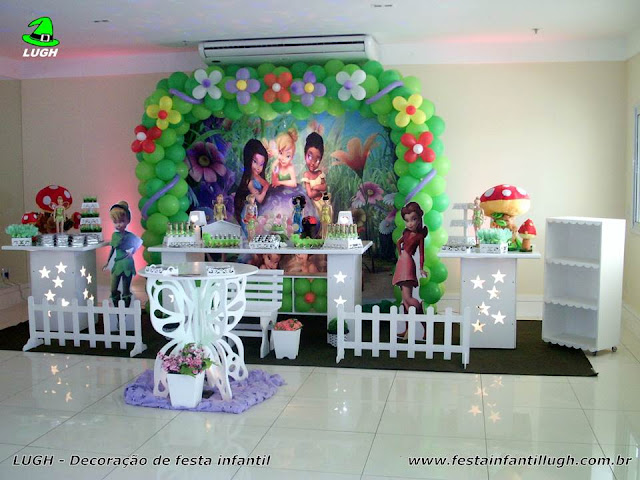 Tema Tinker Bell - festa infantil - Decoração provençal luxo