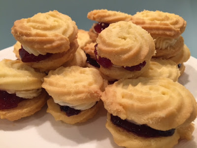 A plate of Viennese Whirls