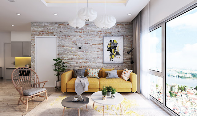 Let the brick characters shine and blend with the nice decor