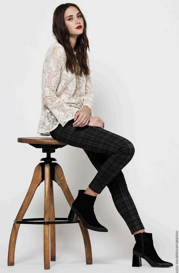 Moda invierno 2017 blusas de encaje moda 2017.