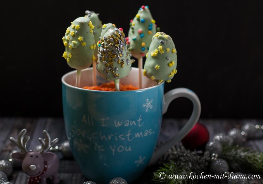 Weihnachtsbaum Cake-Pops