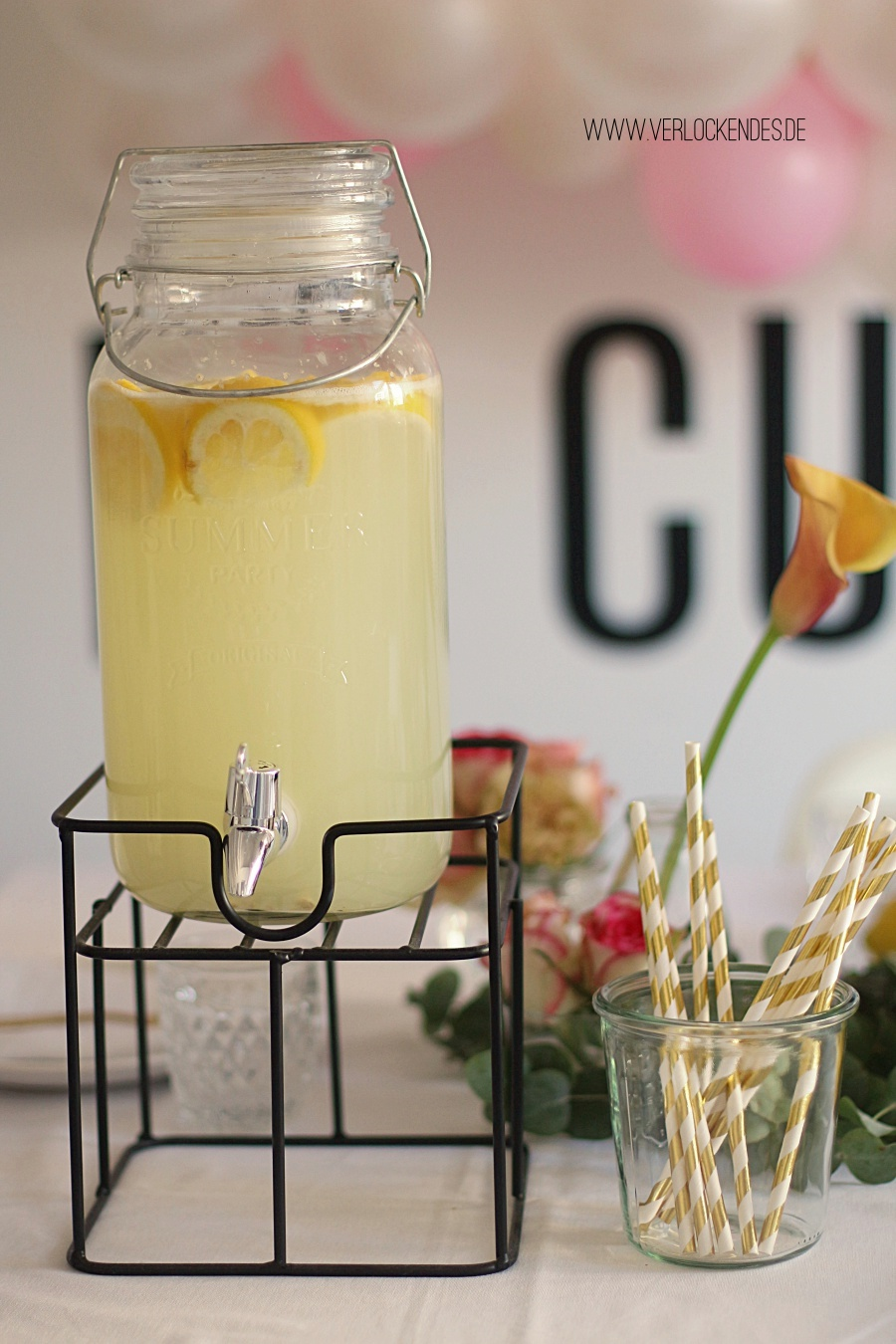 Lemon Vanilla Lemonade homemade