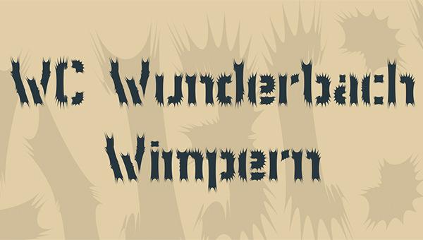 WC Wonderbach Wimpern Font