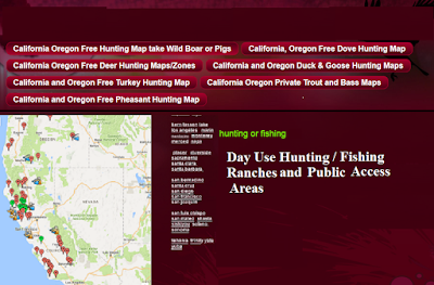 HUNTING AND FISHING MAPS, WHERE TO FISH