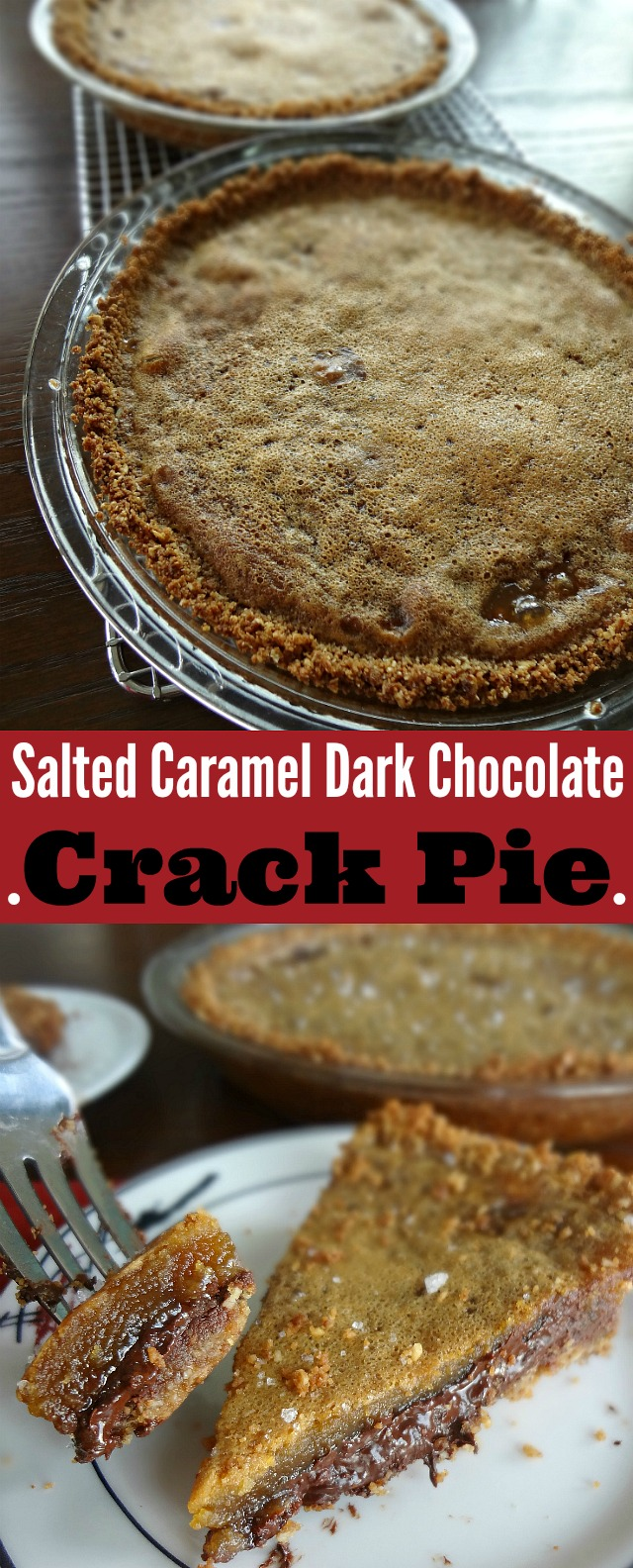 Salted Caramel Dark Chocolate Crack Pie