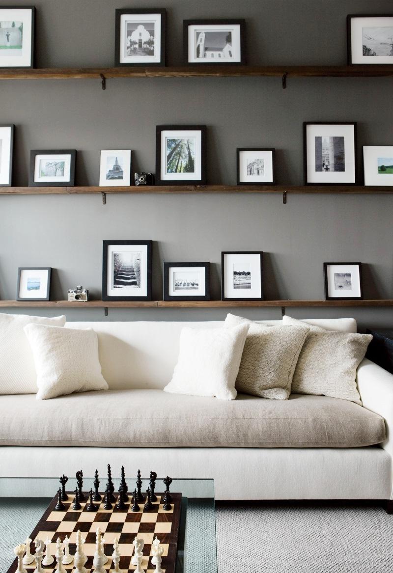 delightful white living room gray sofas suspended shelving | TREND ALERT: TWO TONED SOFAS! | Nbaynadamas Furniture and ...