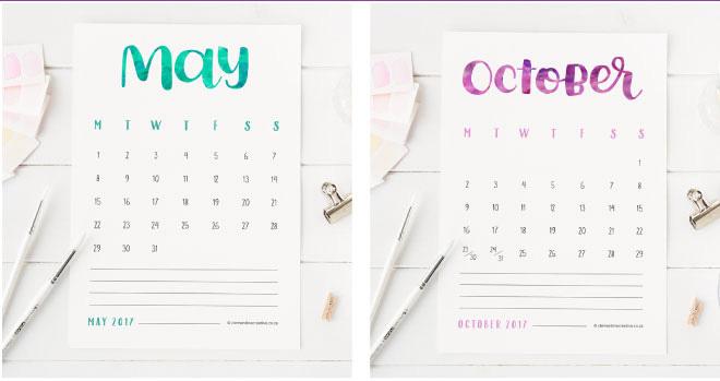 Calendar Design Letters : Cool calendars gema mate