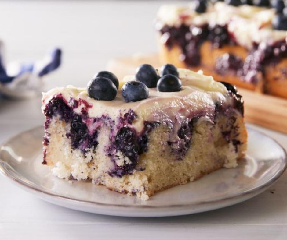 Lemon Blueberry Poke Cake - food-drink-recipes.com