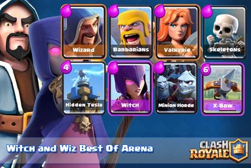 Strategi serangan Witch dan Wizard Arena 4 5 dan 6 Clash Royale