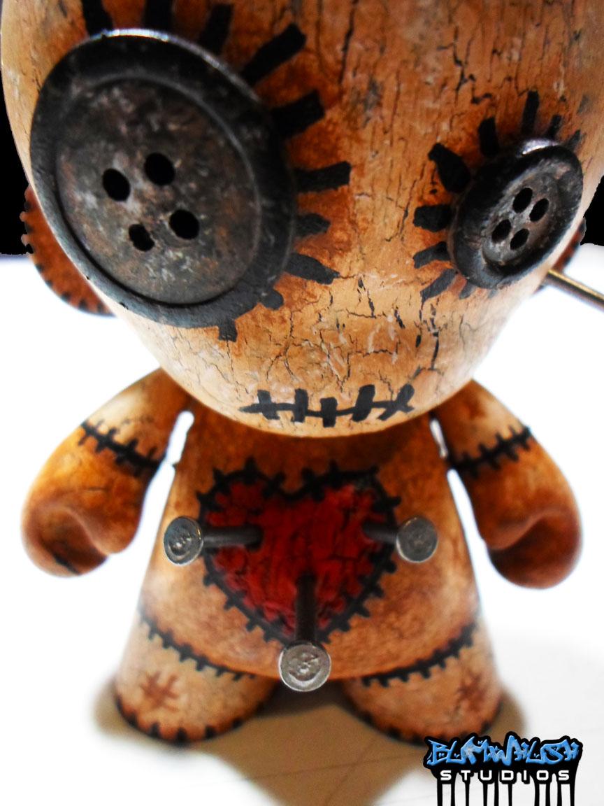 Bumwhush Voodoo Doll Munny Custom With Display Case