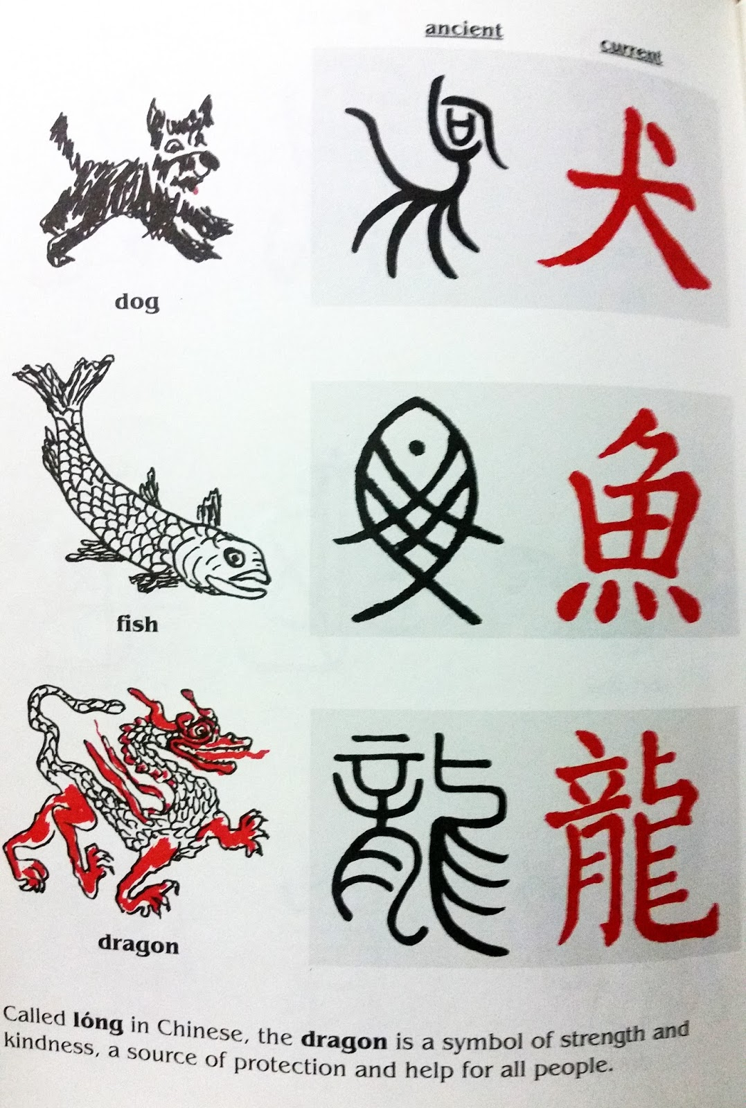 Glimmercat introducing ancient china for instance in this page from the book you can see how the ancient pictogram in black developed into the chinese character in red for the same word buycottarizona