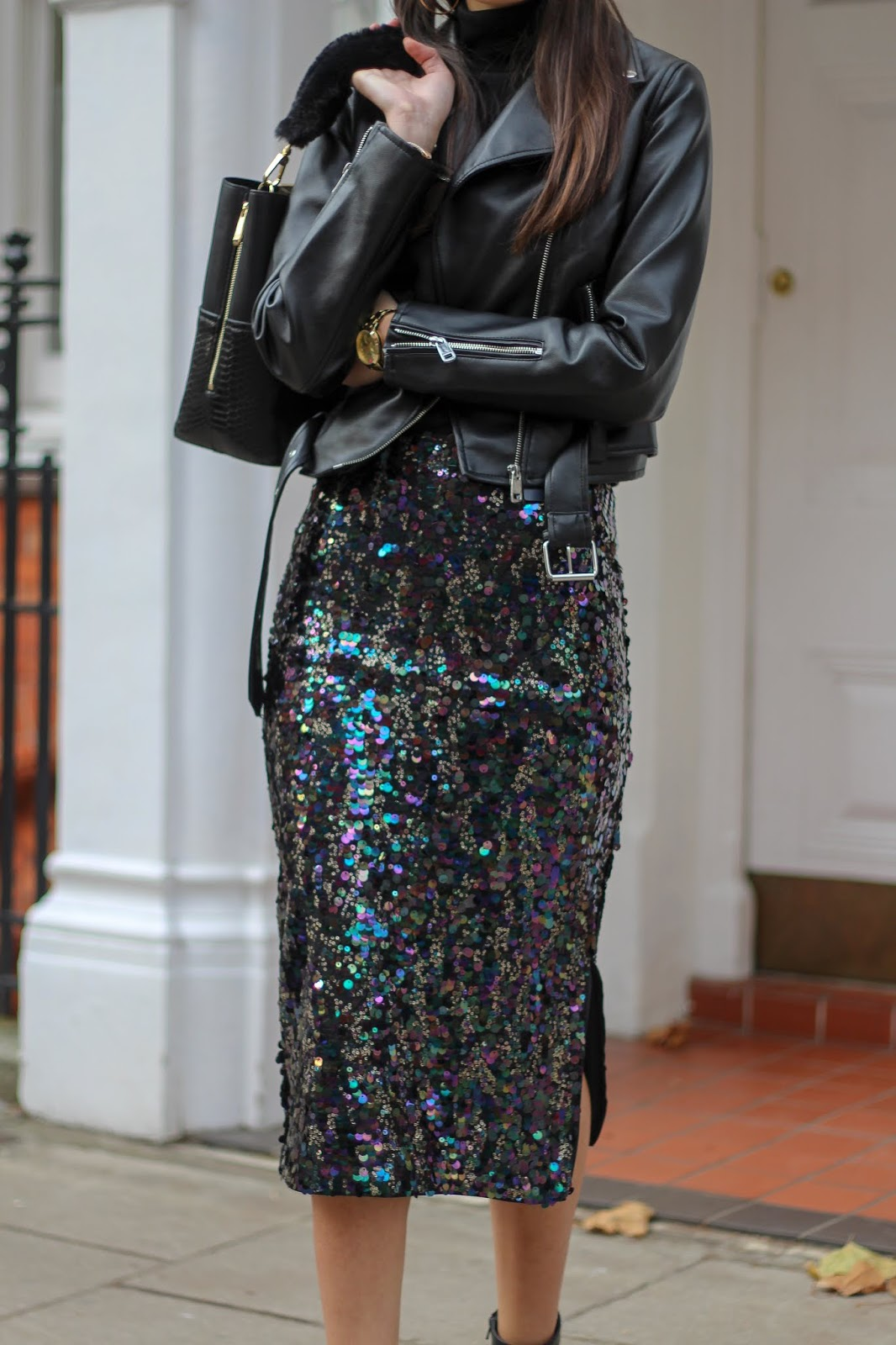 peexo marks & spencer sequin midi skirt