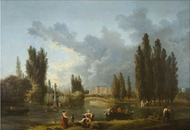 Hubert Robert : Le château et le parc de Méréville, (1786-1787) photo © Benoit Chain, Musée du Domaine départemental de Sceaux
