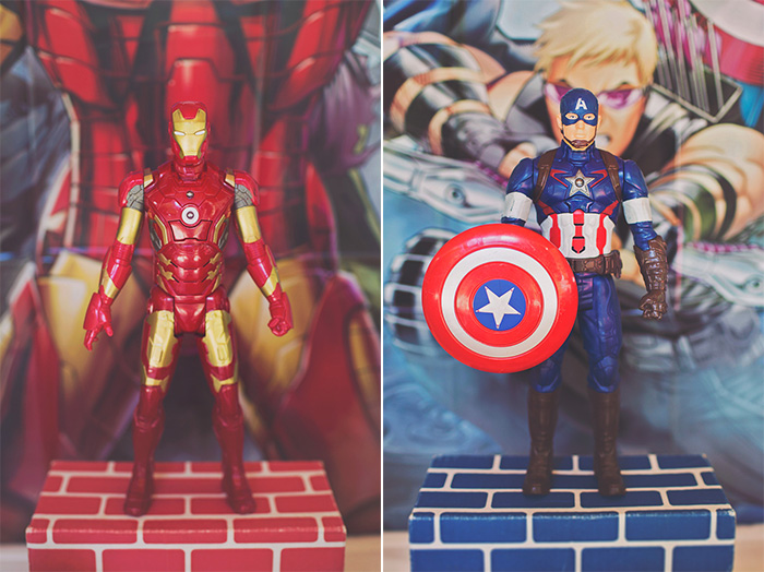 DIY Iron Man and Captain America Birthday Party Decorations