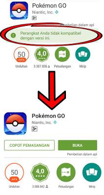 Cara Mengatasi (Perangkat Anda Tidak Kompatibel dengan Versi ini) Game Pokemon Go