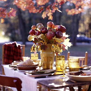 setting the table in Autumn
