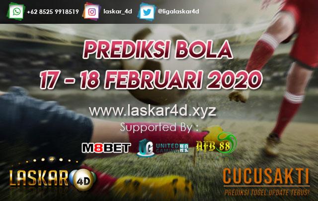 PREDIKSI BOLA JITU TANGGAL 18 – 19 Februari 2020
