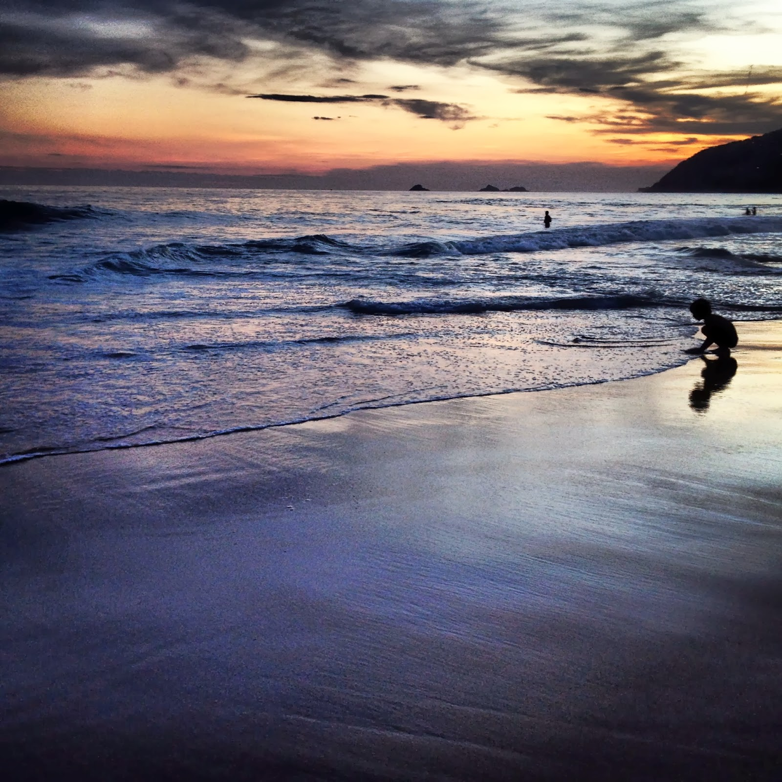 Puesta de sol en la Playa de Ipanema