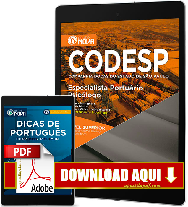 Apostila CODESP 2017 PDF Download Psicólogo