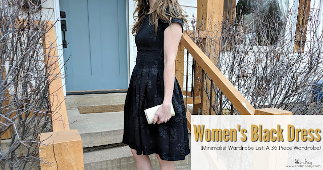 Women's Black Dress (Minimalist Wardrobe List: A 36 Piece Wardrobe)