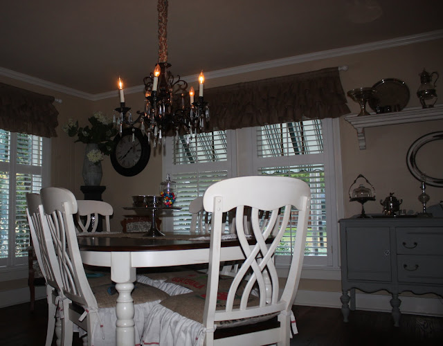 Linen burlap antique ivory dining side chair traditional dining chairs