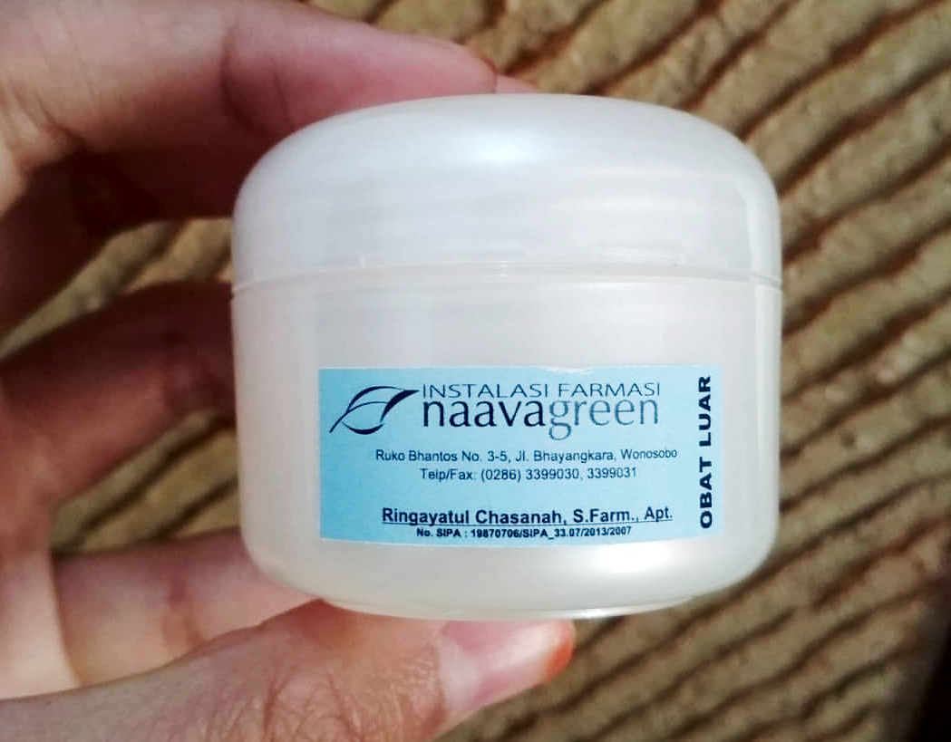 Cara Menggunakan Cream Naavagreen Natural Skin Care