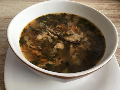Zupa flaczki z grzyba kania