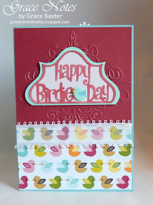 Happy birdie day card with pop-up gifts inside, by Grace Baxter