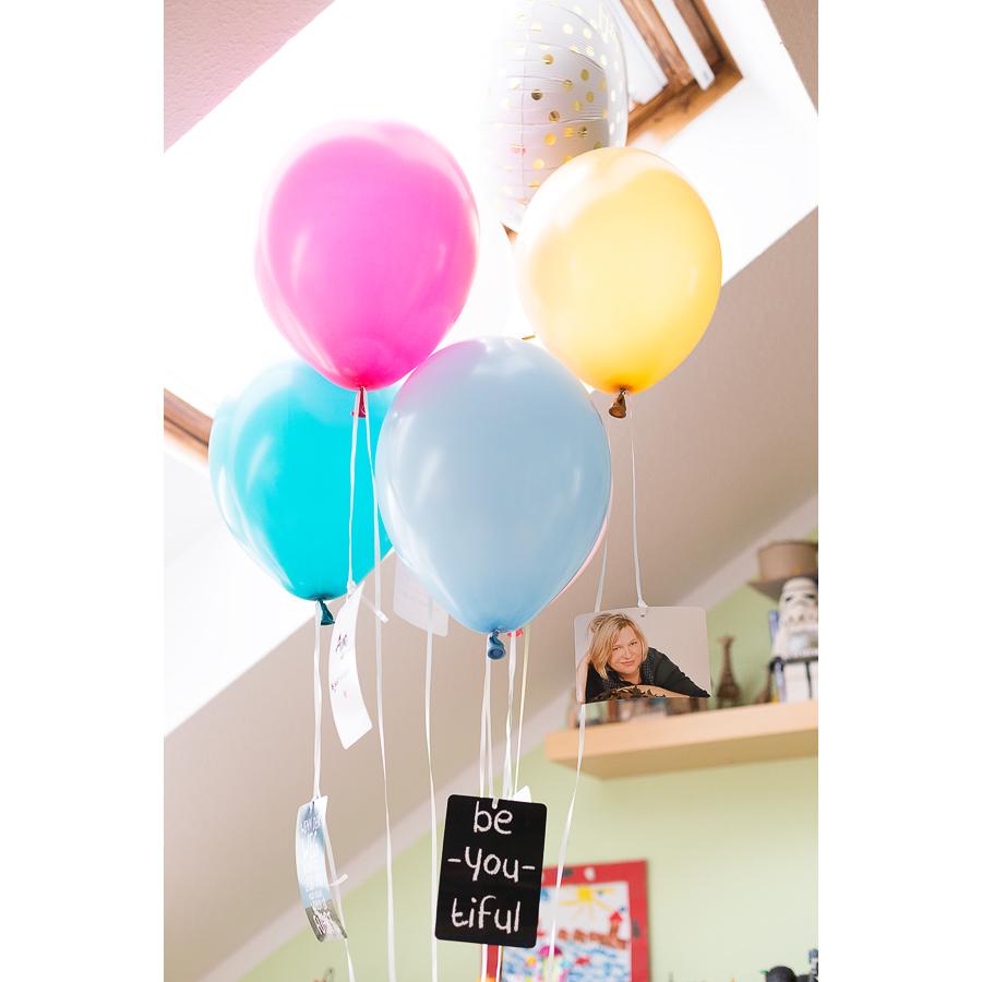 Zwei kleine deko ideen mit ballons f r eine for Besondere deko